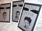 hollywood table markers